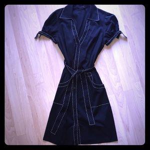 BCBG MAXAZRIA stitch detail dress